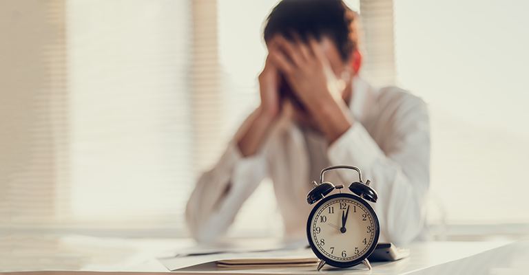 Man stressed about time